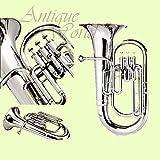 Antiques World Chrome Plated Brass Intermediate Baritone Euphonium AWUSAMI 0112