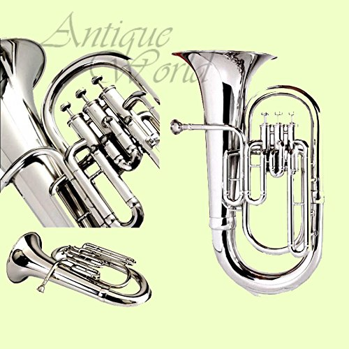 Antiques World Chrome Plated Brass Intermediate Baritone Euphonium AWUSAMI 0112 by Antiques World