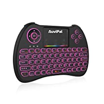 (Free 2 in 1 USB OTG Cable) AuviPal R9 2.4GHz Mini Wireless Keyboard Mouse Combo for Amazon Fire TV Stick, Raspberry Pi, Xbox, PS3, Android, Mac, Windows PC - RGB Colorful Backlit Version