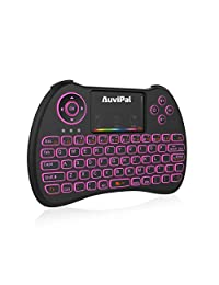 auvipal R9 2,4 gHz Mini teclado inalámbrico mouse Combo con 2 en 1 cable USB para   Fire TV Stick (2nd gen), Roku streaming Stick, Android TV KODI caja, y más   RGB multicolor, versión retroiluminada