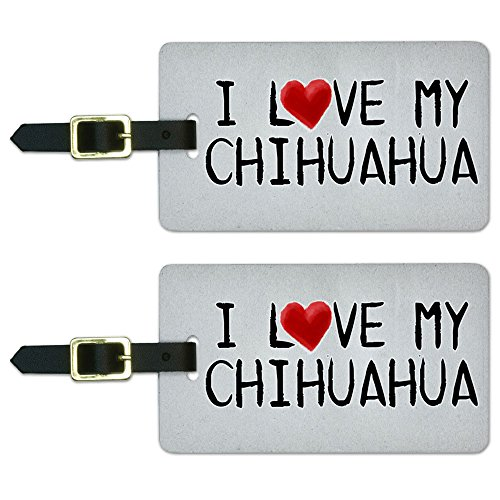 Chihuahua Written Luggage Suitcase Carry