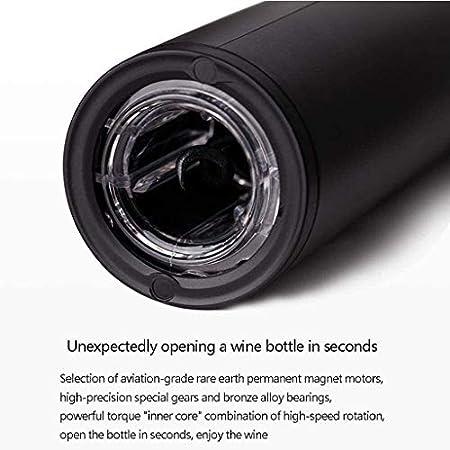 Sacacorchos eléctrico de vino, sacacorchos de vino recargable, sacacorchos de vino automático, silencioso, barra de regalo de empresa familiar, sacacorchos de vino portátil, Ti(color: A(pack de 2)