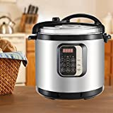 KUPPET 7-IN-1 Multipot-10 QT Programmable Pressure Cooker-Pressure Cooker, Rice Cooker, Slow Cooker, Steamer, Saute, Bake Cakes and Warmer-Suit for 10-15 People-Stainless Steel-1400W