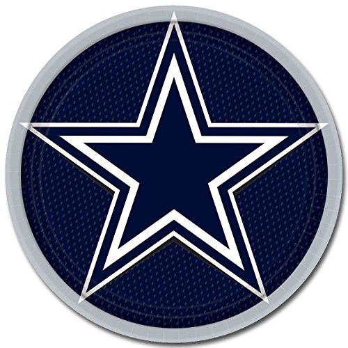 Plates Dinner Cowboys (Amscan Dallas Cowboy NFL Football 9