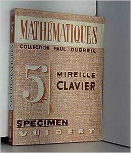 mathematiques classe de 5e lycees et colleges denseignement general par mlle m clavier