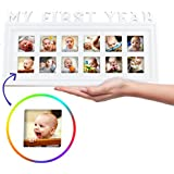 My First Year 12 Month Baby Picture Photo Frame – Capture...