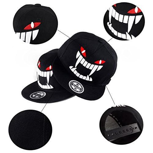 Aivtalk - Negra Gorra de Béisbol Hip Hop Sombrero Plano con Bordado  Ajustable Snapback Accesorio para 22bc3adfda9