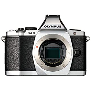 Olympus OM-D E-M5 16MP Live MOS Interchangeable Lens Camera with 3.0-Inch Tilting OLED Touchscreen [Body Only] Silver  - International Version (No Warranty)
