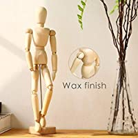 Wooden Human Mannequin for Drawing - Figure posable Art Model,Wood Manikin Body Doll for Artists,Female