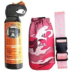 UDAP Bear Spray With Pink Camo Hip Holster & Belt 100 Includes pink camouflage hip holster with belt. Hottest Bear Spray Formula at 2% CRC Most Powerful Bear Spray Fog!