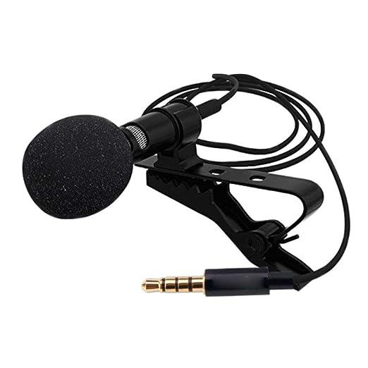 Sunlera MNI portátil micrófono de Solapa con Cable PC Smartphone ...