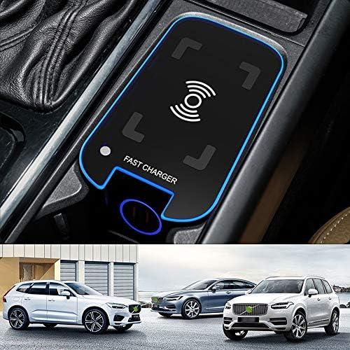 2021 Upgrade Draadloze Autolader voor Volvo XC90 XC60 S90 V90 V60 S60 20212019 Middenconsole Accessoirepaneel 15W Snelladende Telefoonoplader met 36W QC30 USB voor iPhone Samsung HUAWEI