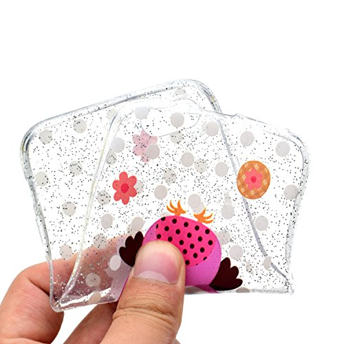 Funda para Apple iPhone 7 / 8 , IJIA Transparente Brillante Brillo Purpurina llamativa Cactus TPU Silicona Suave Cover Tapa Caso Parachoques Caja Carcasa Cubierta para Apple iPhone 7 / iPhone 8 (4.7) MM51