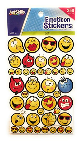 EMOTICON Sticker Faces Kissy Angel Devil Goofy Sad