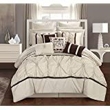 chic home cs2765an ashville 16 piece bed in a bag comforter set offwhite queen