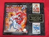 Nationals Bryce Harper 2 Card Collector Plaque w/Rookie of the Year 8x10 Photo