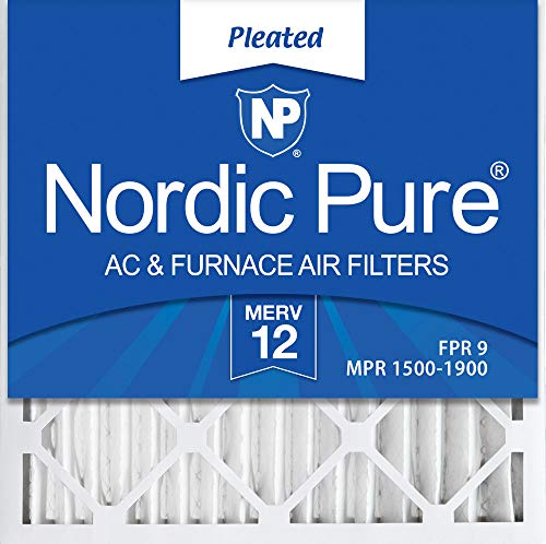Nordic Pure 20x20x2 MERV 12 Pleated AC Furnace Air Filters 20x20x2 3 Pack