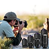 4 Pack Camera Lens Protective bag(S, M, L, XL), Elegant Choise Lens Pouch [ Neoprene ] Thick Protective Camera Bag for DSLR Camera Canon, Nikon, Pentax, Sony, Olympus, Panasonic (4-Pack)