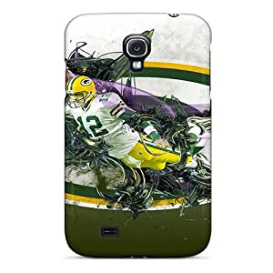 Flexible Tpu Back Case Cover For Galaxy S4 - Green Bay Packers