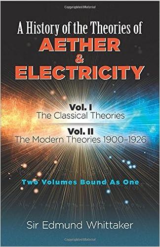ผลการค้นหารูปภาพสำหรับ A History of the Theories of Aether and Electricity