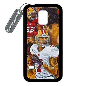 CASECOCO(TM) San Francisco 49ers Samsung Galaxy S5 mini Case - Protective Hard Back / Black Rubber Sides Case for Samsung Galaxy S5 mini