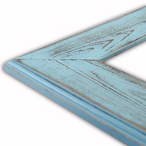 Ashley Aqua Picture Frame-Solid Wood, - Picture Aqua Frame