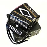 Best Button Accordions - Bonetti Black 3-Switch Diatonic Button Accordion GCF 3412 Review