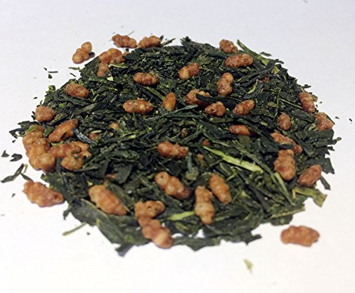 Organic Japanese Genmaicha Green Tea with Roasted Brown Rice loose leaf Premium 100g (3.52oz) x 1 (Brown Rice Tea Loose Leaf compare prices)