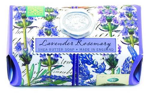 (Michel Design Works Over-size Scented Triple-milled Bath Soap Bar, Lavender Rosemary, 8.7 Ounce)