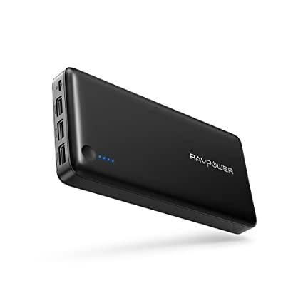 Portable Charger RAVPower 26800mAh Power Bank 26800 Total 5.5A Output 3-Ports External Battery Pack Portable Phone Charger for Iphone ...