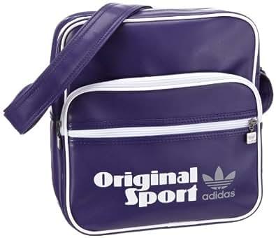 Adidas Originals Os Sir Bag - Bolso de hombro, color Collpurpl/Wh, talla 28X30X11 Cm (B X H X T)