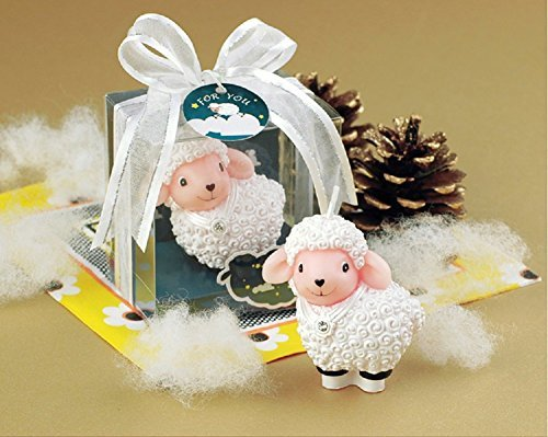 RedC Creative Diamante Sheep Cartoon birthday Candle, Smokeless Cake candle and Party Supplies, Hand-made Cake Topper Decoration, Great Gift