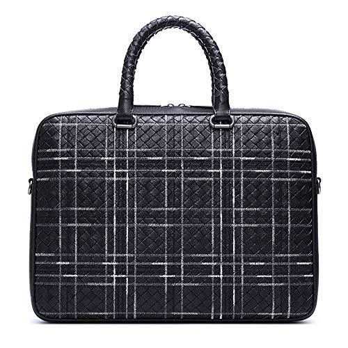 Business Briefcase Lambskin Plaid Pattern Multi-Functional Travel Rucksack Fits 17.3 Inch Laptop for Men/Women ()
