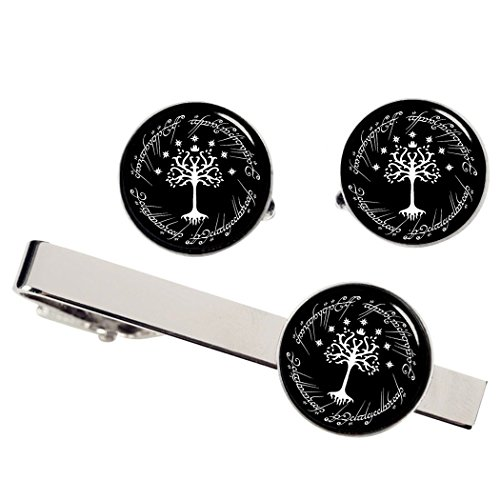 Kooer White Tree Cufflinks For