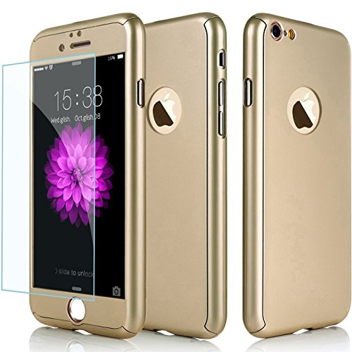 [iPhone 6S Case, AOKER Ultra-thin Full Body Coverage Hard Plastic Matte [Tempered Glass Screen Protector] 360 All Round Shockproof Hybrid Cover Skin for Apple iPhone 6/6S 4.7 Inch] (80s Fashion Men)