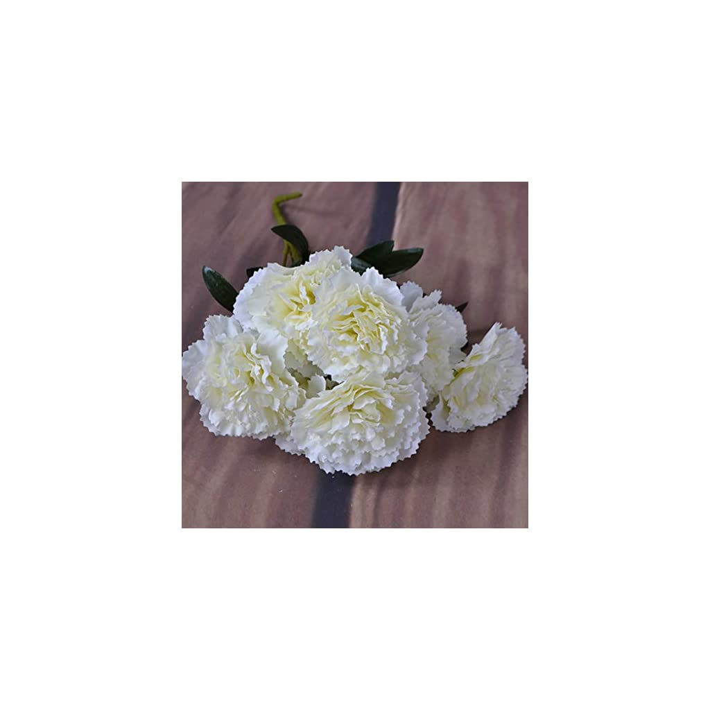 1-Branch-Plastic-Handle-7-Heads-Fake-Carnation-Home-Decor-Artificial-Flowers
