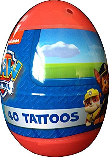 Paw Patrol 40 Tattoo Jumbo Easter Egg Nickelodeon by Paw Patrol