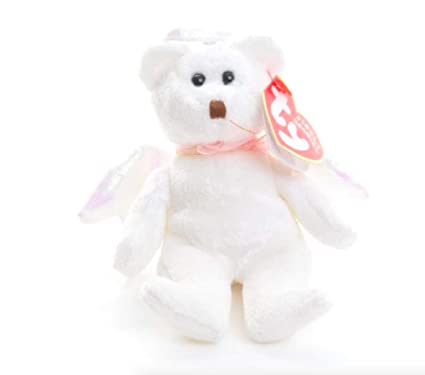 Amazon.com  Ty Jingle Beanies Halo - Angel Bear  Toys   Games 3ce65d214bde