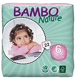 Bambo Nature Diapers-Size 6-88 Count