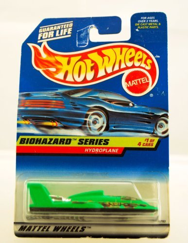 Hot Wheels   1997   Biohazard Series   Hydroplane   1 Of 4   Collector  717   Neon Green   Limited Edition   Collectible