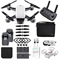 DJI Spark Fly More Combo + Extra Accessories - Portable Quadcopter Drone Includes Lanyard and Mini Drone