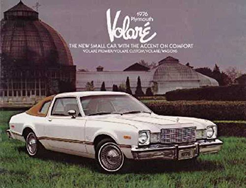 1976 Plymouth Volare Sales Brochure Literature Book Advertisement Options