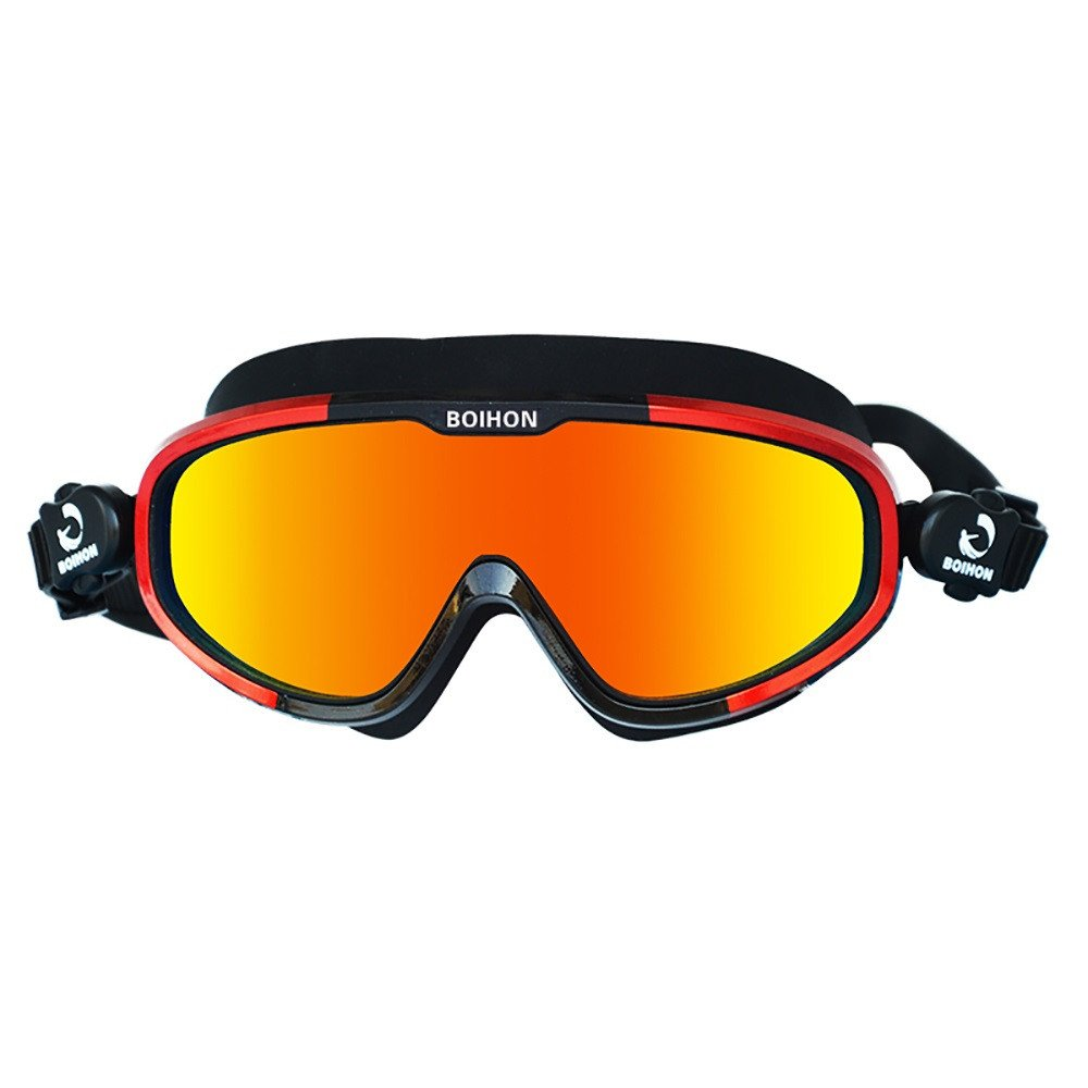 CapsA 防水水泳ゴーグル ガールズ ボーイズ 水泳用メガネ スポーツ 眼鏡 レディース メンズ ボックス付き B07NL9QVHT E