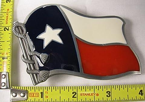 State of Texas Usa Flag Belt Buckle Cowboy Western Rodeo Unisex (Hebillas De Rodeo)