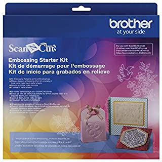 Brother ScanNCut Embossing Starter Kit CAEBSKIT1, Accessory Set with Mat, Tools, Metal Sheets and 50 Embossing Patterns for DIY Cutting Machine