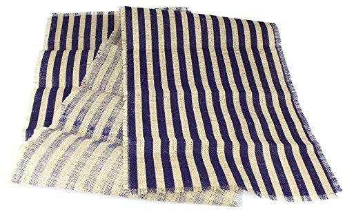 Kel-Toy Inc Striped Burlap Table Runner, 15