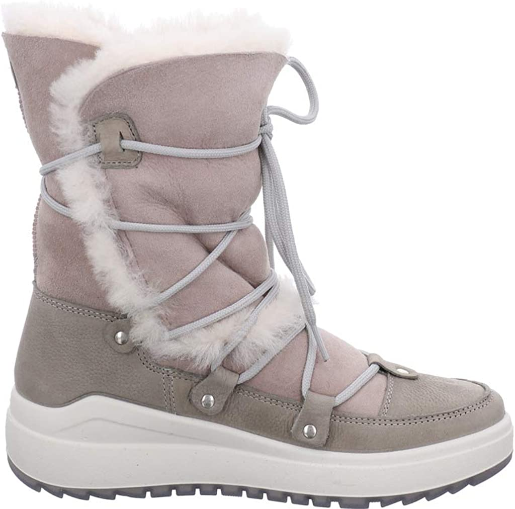 Vista Women's Short Shaft Winter Boots Ankle Boots Lined Brown/Beige Light Grey
