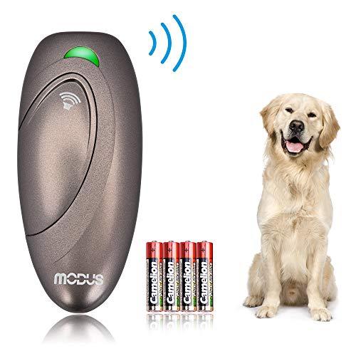 Modus Ultrasonic Bark Control Device, Anti Barking DeviceDog Training Aid 2 in 1 Control Range of 16.4 Ft W/Anti-Static Wrist Strap LED Indicate 100% Safe Walk a Dog Outdoor