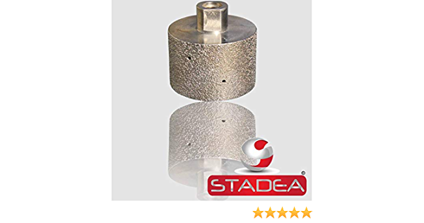 2 Electroplated Diamond Drum Wheel Grit 60 for Granite Marble Concrete Glass Sanding