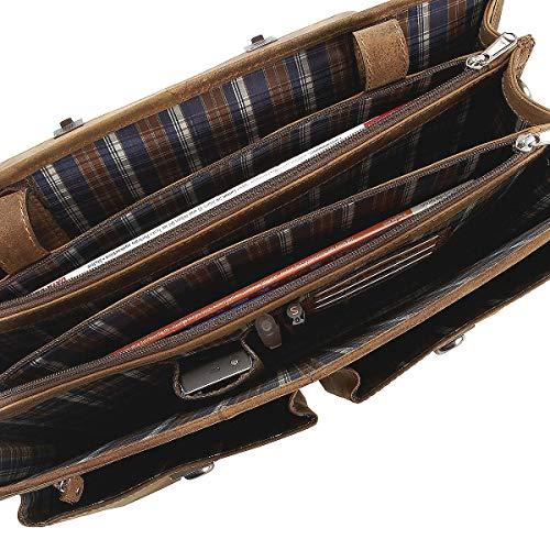 Portatile Portadocumenti Antico Cm Cartella Harold's 42 Natur Compartimenti Pelle ARw0qH6
